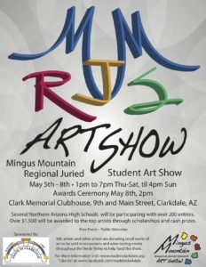 Mingus Mountain Regional Juried Student Art Show @ Clark Memorial Clubhouse | Clarkdale | Arizona | United States