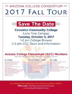 Arizona College Consortium - 2017 FALL Tour @ Coconino Community College | Flagstaff | Arizona | United States