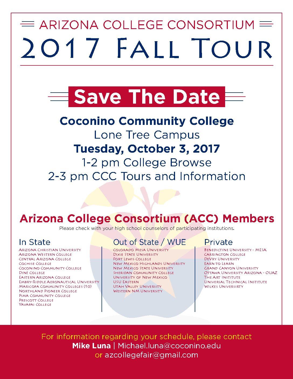Arizona College Consortium – 2017 FALL Tour