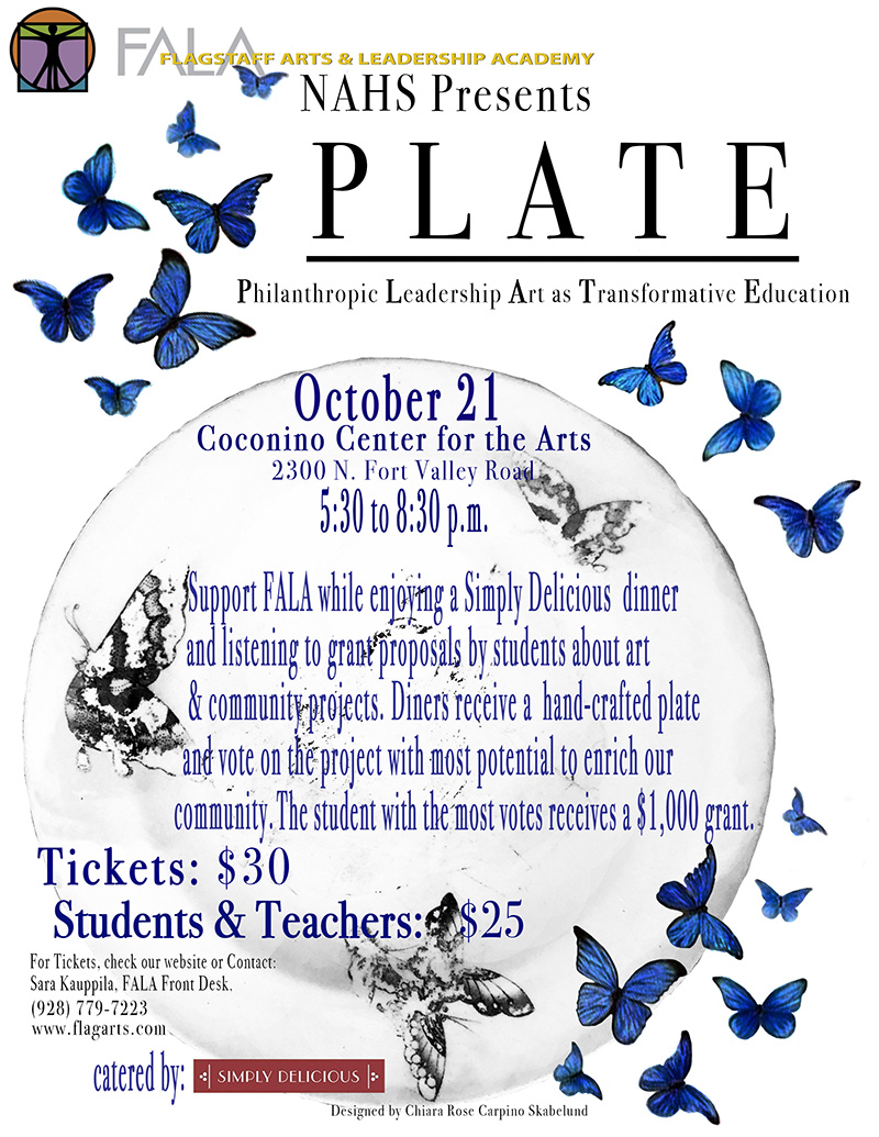 It Is Time For PLATE! Saturday October 21, 2017 5:30PM
