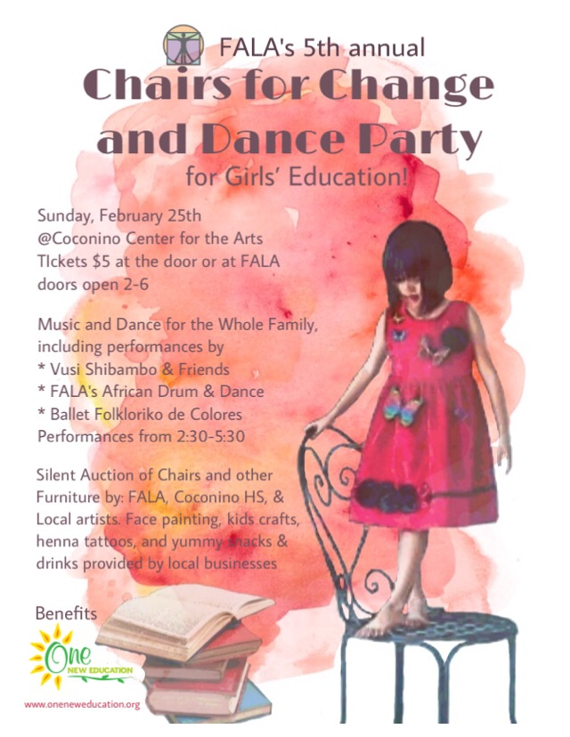 FALA's Fifth Annual Chairs For Change And Dance Party For Girls' Education