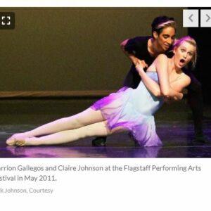 Daily Sun Article Photo Of FALA Graduate As A Pro Backup Dancer