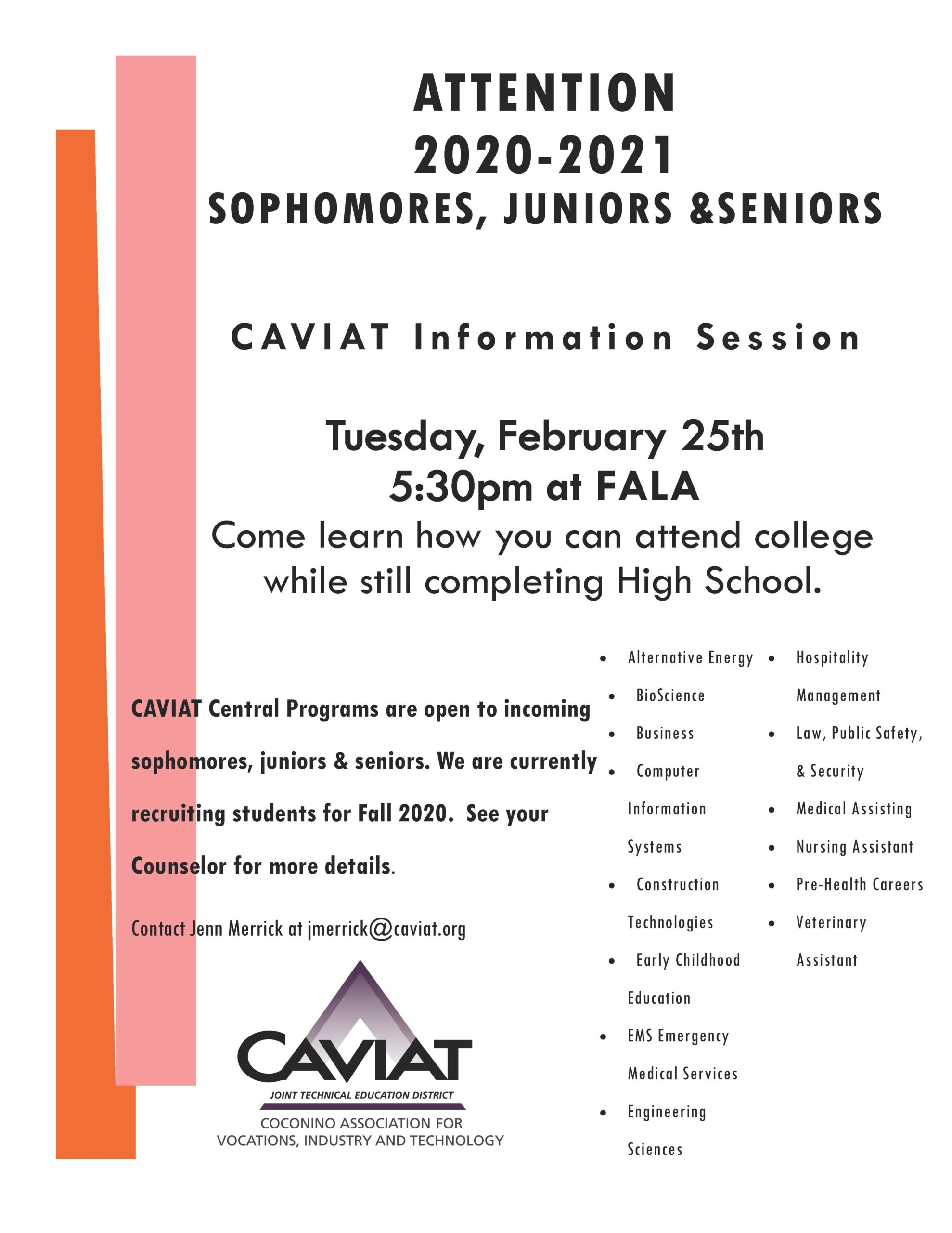 CAVIAT Information Session @ FALA Campus