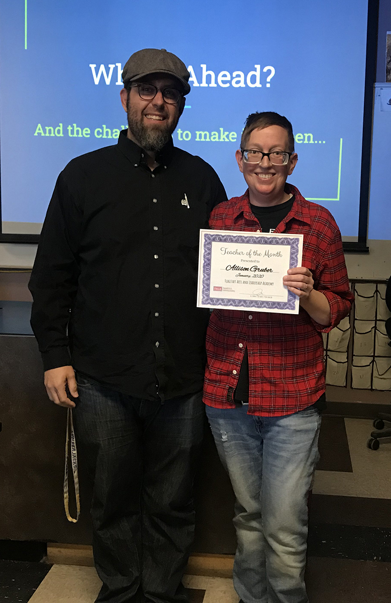 Teacher of the month January 2020 - Allison Gruber