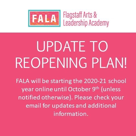 Update To School Reopening Plan