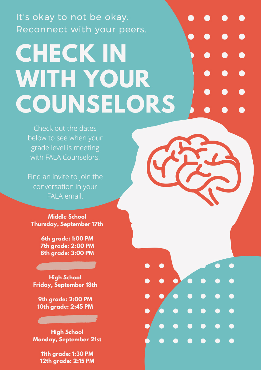 Check In With Your Counselors Infographic
