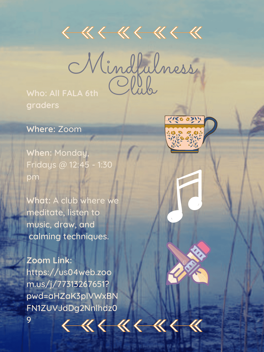 Mindfullness Club Zoom Flyer