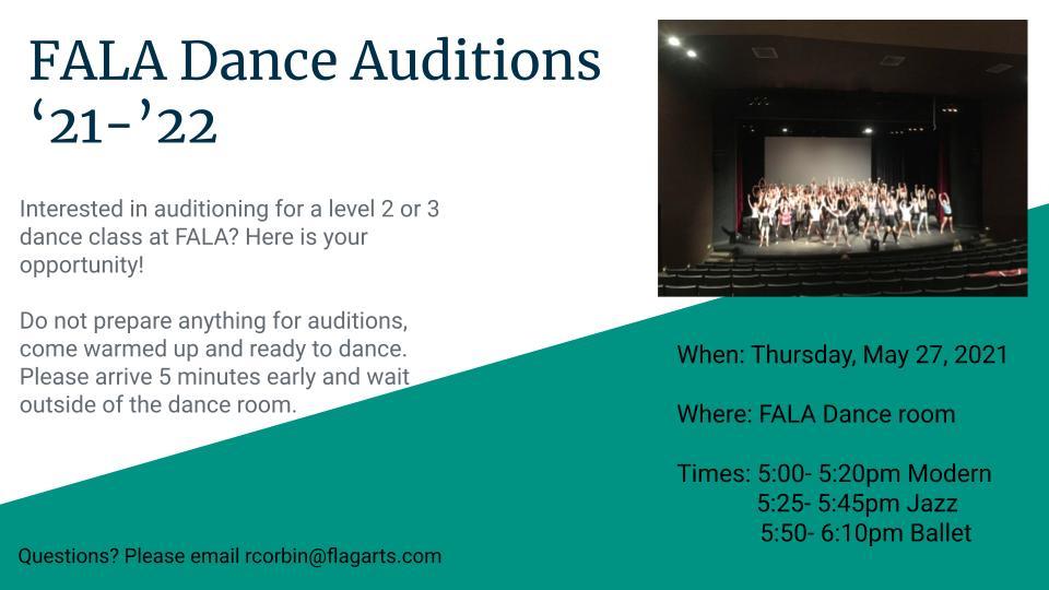 FALA Dance Auditions '21-'22