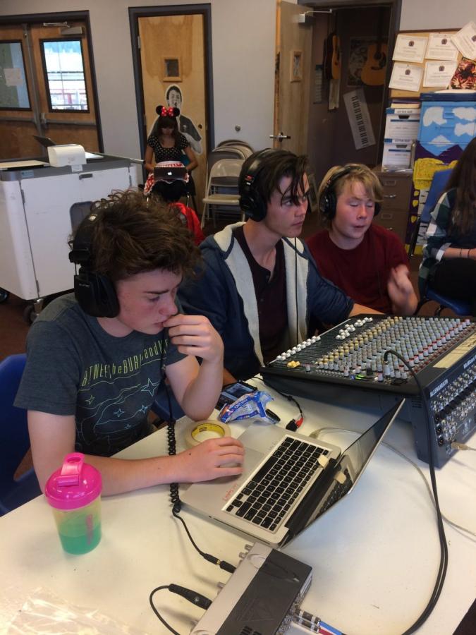 Photo of FALA students using technology